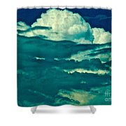 Blues Away Shower Curtain