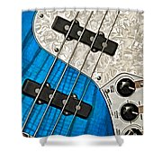 Blues Bass Shower Curtain