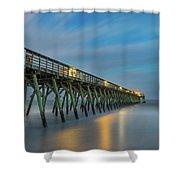 Blues Beach Shower Curtain