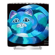 Blues Cat Shower Curtain