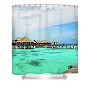 Blues In Maldivian Performance  Shower Curtain