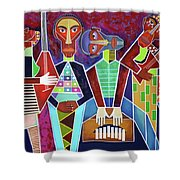 Blues Music Shower Curtain