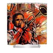 Blues On Bourbon Street Shower Curtain