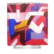 Blues On Rouge   Shower Curtain
