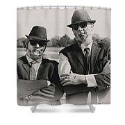 Blues Walkers Shower Curtain