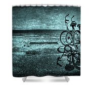 Bluescape Shower Curtain by Evelina Kremsdorf
