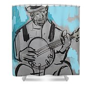 Bluesman Shower Curtain