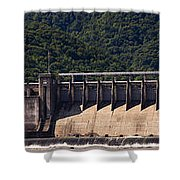 Bluestone West Virginia Dam Panorama Shower Curtain