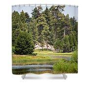 Bluff Lake Ca 13 Shower Curtain