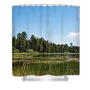 Bluff Lake Ca 3 Shower Curtain