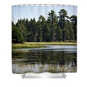 Bluff Lake Ca 6 Shower Curtain