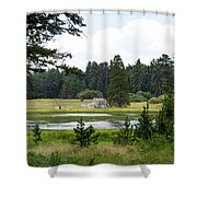 Bluff Lake Ca 9 Shower Curtain