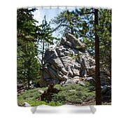Bluff Lake Ca Boulders 1 Shower Curtain