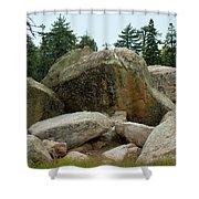 Bluff Lake Ca Boulders 3 Shower Curtain