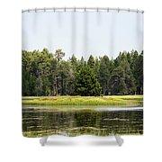 Bluff Lake Ca Island 3 Shower Curtain