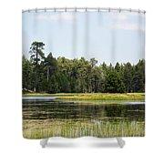 Bluff Lake Ca Island 4 Shower Curtain
