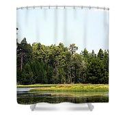 Bluff Lake Ca Island 5 Shower Curtain