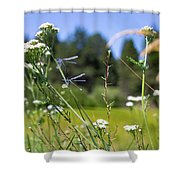 Bluff Lake Wild Flowers 2 Shower Curtain
