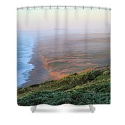 Bluffs And South Beach Point Reyes Shower Curtain