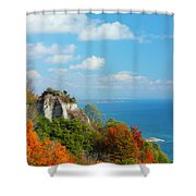 Bluffs Splendour - Scarborough Bluffs Shower Curtain