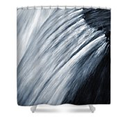 Blurred Detail For Falling Water Shower Curtain