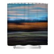 Blurred Field Shower Curtain