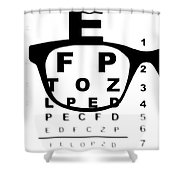 Blurry Eye Test Chart Shower Curtain