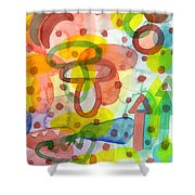 Blurry Mushroom And Other Things Shower Curtain
