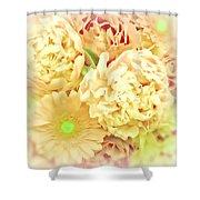 Blush Floral Bouquet Shower Curtain