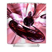 Blushing Abstract Shower Curtain