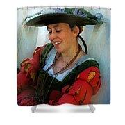 Blushing Bavarian Bridesmaid Shower Curtain