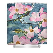 Blushing Prettily Shower Curtain