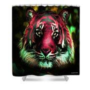 Blushing Tiger Shower Curtain