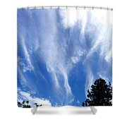 Blustery Sky Shower Curtain