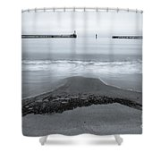 Blyth Beach And Pier #5 Shower Curtain