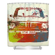 Bmw 2002 Front Watercolor 2 Shower Curtain
