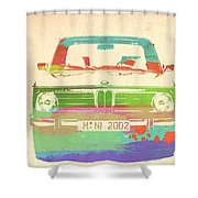 Bmw 2002 Front Watercolor 3 Shower Curtain by Naxart Studio