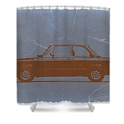 Bmw 2002 Orange Shower Curtain