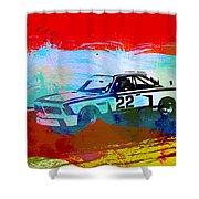Bmw 3.0 Csl Racing Shower Curtain by Naxart Studio