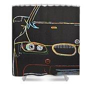 Bmw E92 Lines Shower Curtain