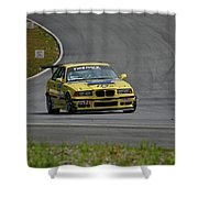 Bmw M3 Tire Rack Shower Curtain