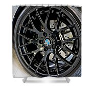 Bmw M3 Wheel Shower Curtain by Aaron Berg