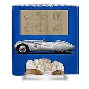 Bmw Mille Miglia Poster Shower Curtain