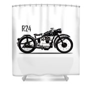 The R24 Motorcycle Shower Curtain