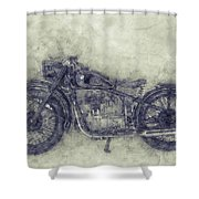 Bmw R32 - 1919 - Motorcycle Poster 1 - Automotive Art Shower Curtain