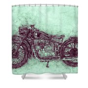 Bmw R32 - 1919 - Motorcycle Poster 3 - Automotive Art Shower Curtain