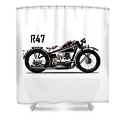The R47 Motorcycle Shower Curtain