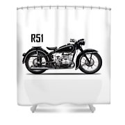 The R51 Motorcycle Shower Curtain
