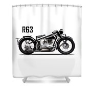 The R63 Motorcycle Shower Curtain