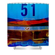 Bmw Racing Colors Shower Curtain by Naxart Studio
